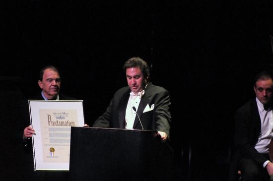 Michael Capasso reads Mayor Bloomberg's Proclamation